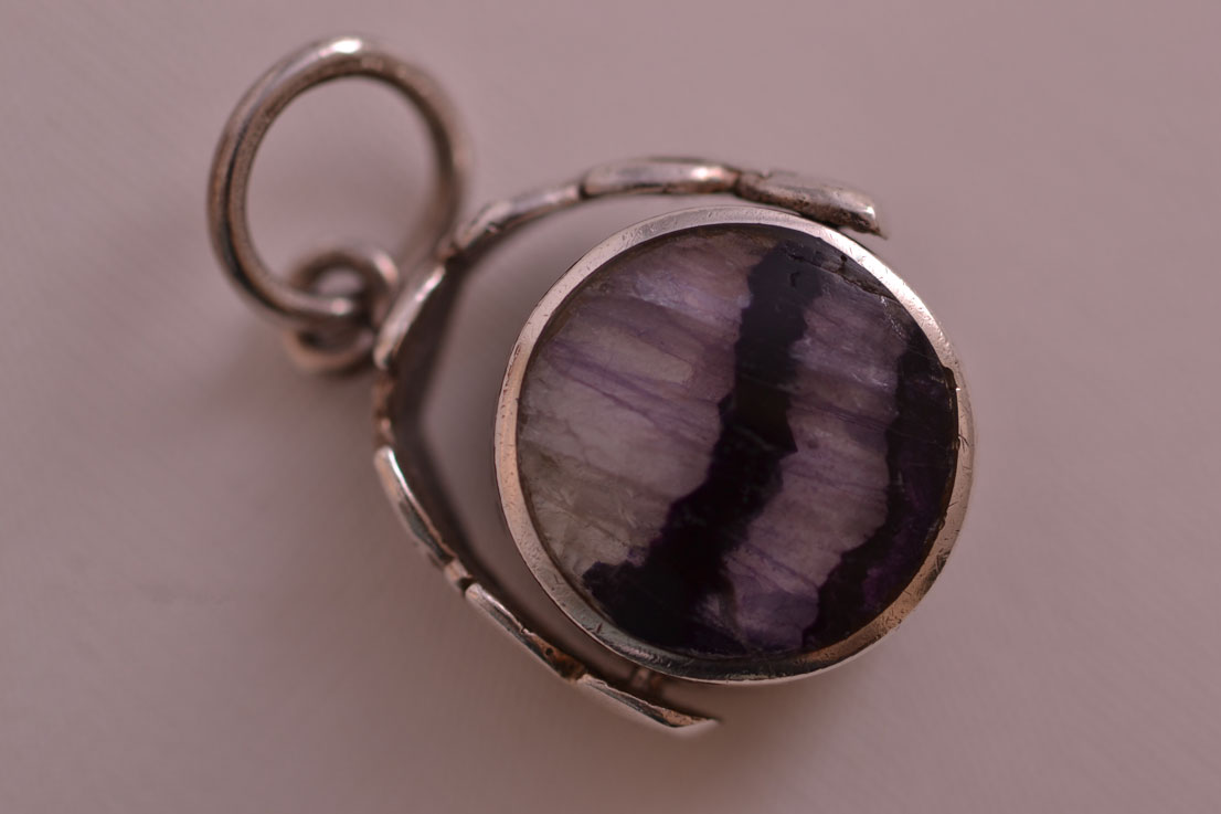 Silver Vintage Swivel With Blue John