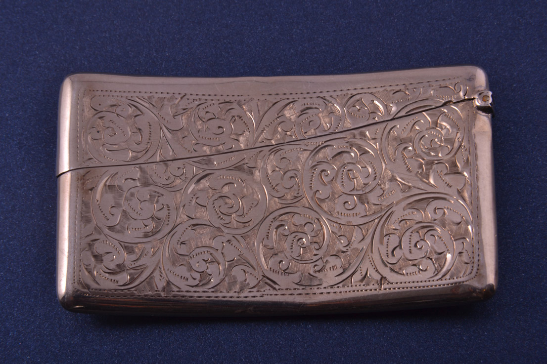 Silver 1910 S Lady S Card Case Antique Accessories