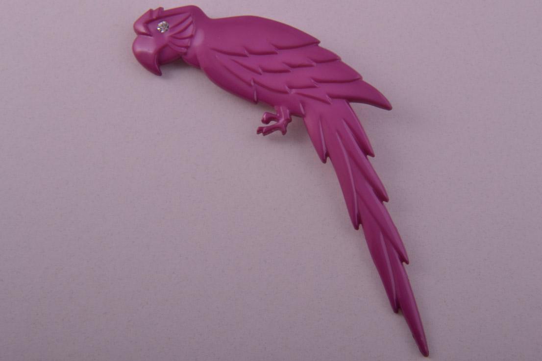 Plastic Parrot Brooch Jewellery Amanda Appleby4015