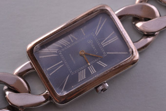 Silver Retro Wrist Watch