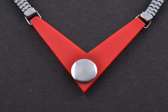Art Deco Plastic And Chrome Necklace