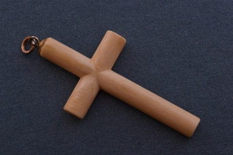 Bone Vintage African Cross