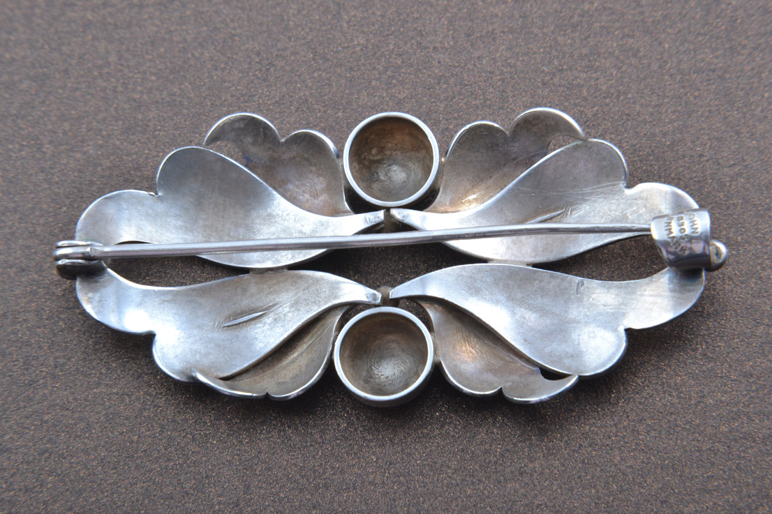 Silver Retro John Lautitzen Brooch From Denmark Retro
