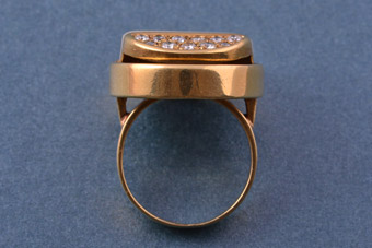18ct Gold Retro Ring