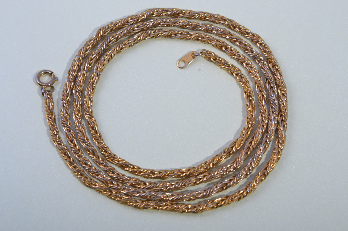 Gilt Vintage Chain-Like Necklace