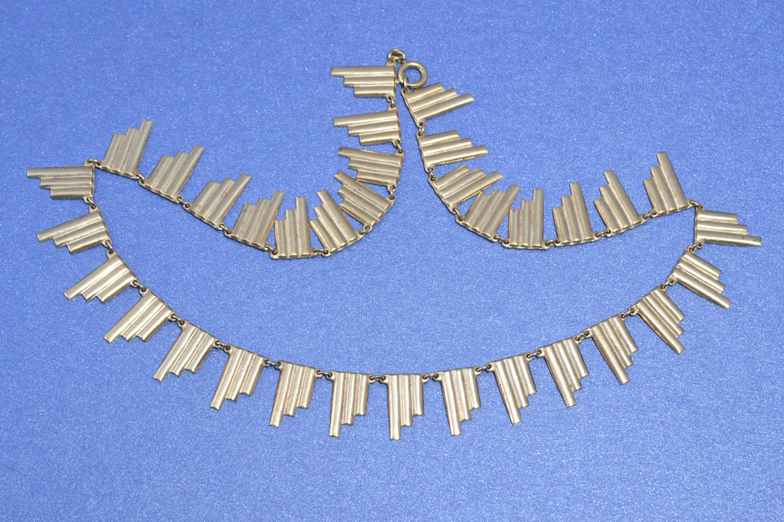 Gilt Art Deco Necklace