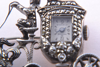 Silver Brooch / Watch