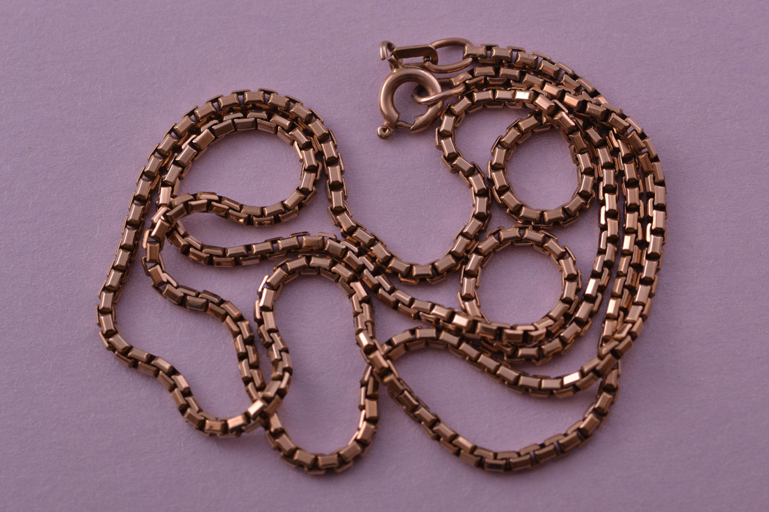 9ct Rose Gold Vintage BoxType Chain Vintage Jewellery Amanda