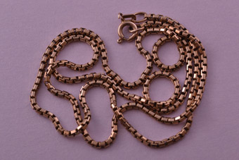 9ct Rose Gold Vintage Box-Type Chain