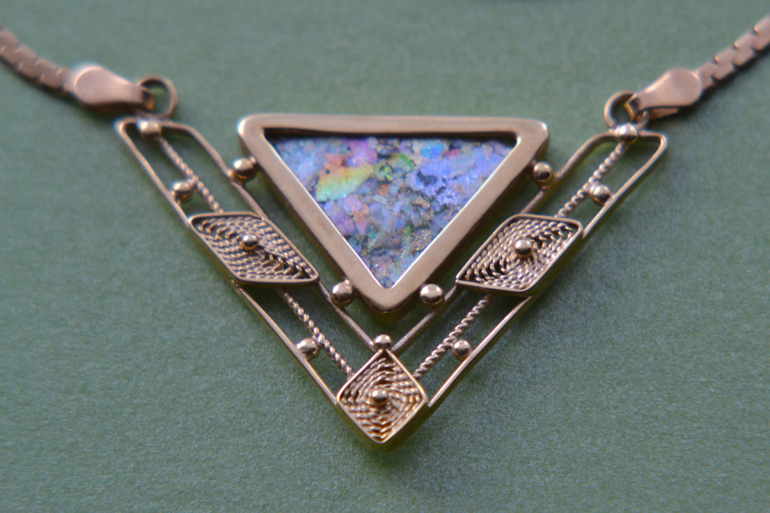 14ct Yellow Gold Vintage Necklace With Opal Vintage