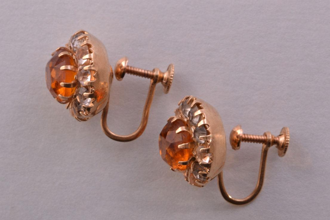 c73a5e5ed 10ct Gold Vintage Screw On Earrings | Vintage Jewellery | Amanda ...