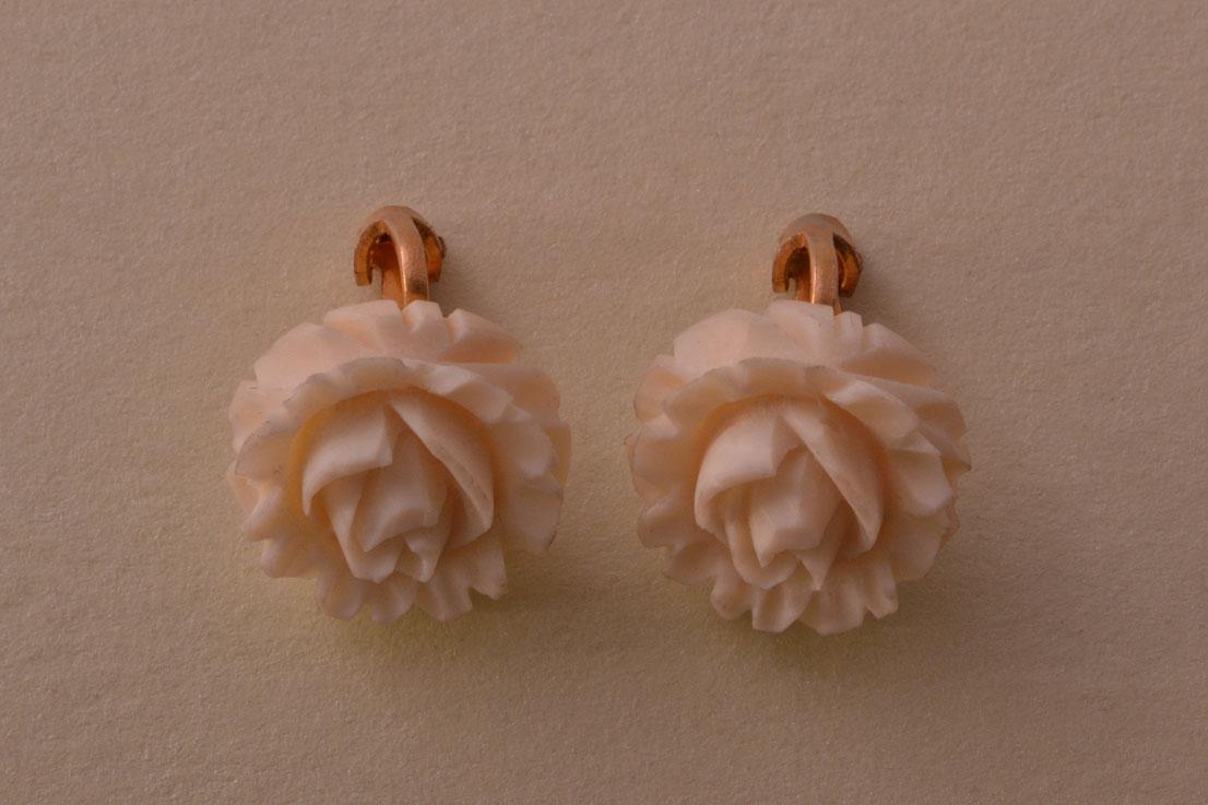 Vintage Ivory Clip On Earrings Vintage Jewellery