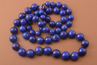 Vintage Necklace With Lapis Lazuli Beads