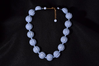 1950's Powder-Blue Plastic Necklace