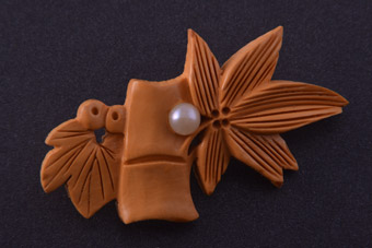 1930's Bamboo-Inspired Brooch