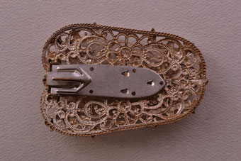 Gilt Vintage Dress Clip