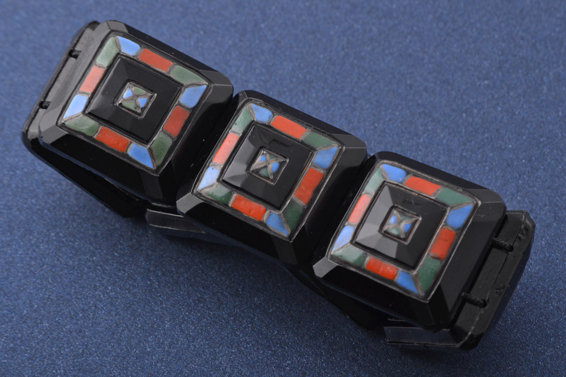 Glass Art Deco Bracelet