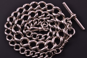 Silver 1900's Watch Chain
