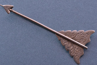 Silver Victorian Arrow Brooch