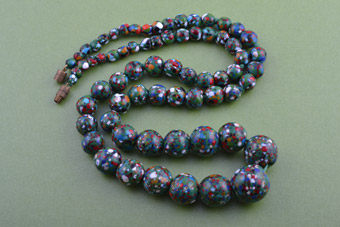 1950's Necklace With Venetian Glass Beads From Italy