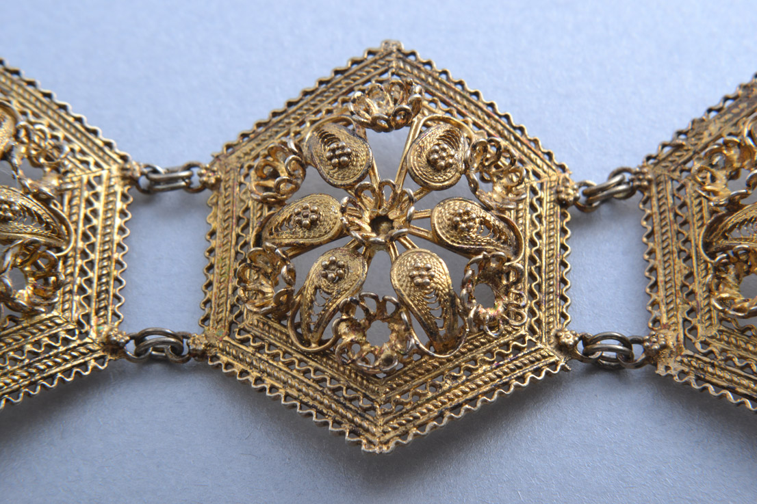 Silver Gilt Vintage Filigree Bracelet Vintage Jewellery