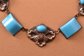 Glass Art Deco Necklace