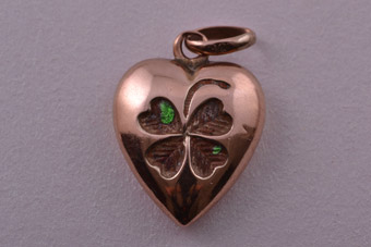 9ct Rose Gold Victorian Heart Charm
