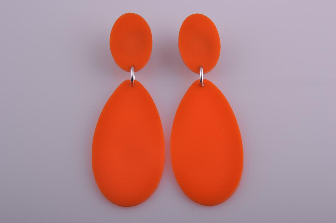 Plastic 1960 S Pop Clip On Earrings Vintage Jewellery