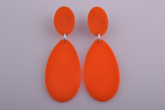 Plastic 1960's Pop Clip On Earrings