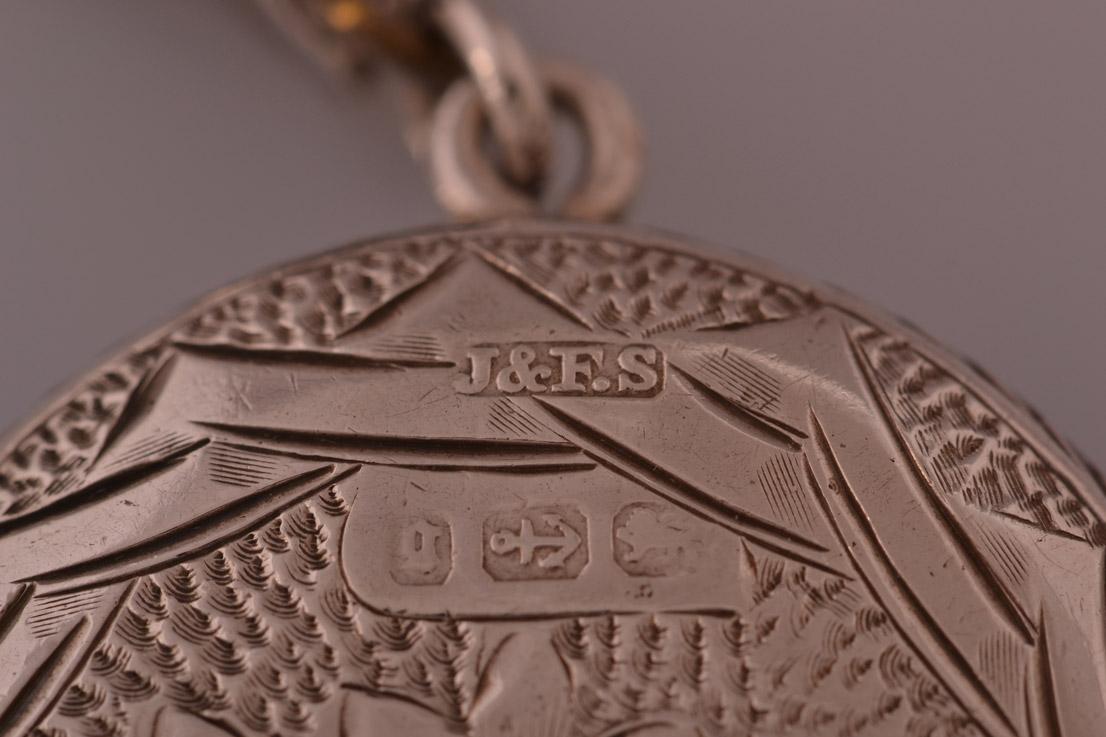 Silver Victorian Opening Locket Antique Jewellery