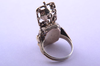 Silver Gilt Ring / Watch