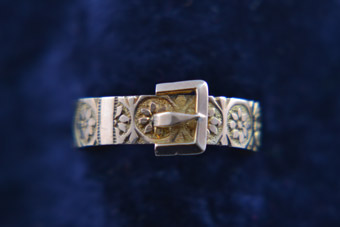 9ct Rose Gold Victorian Buckle Ring With Engraving