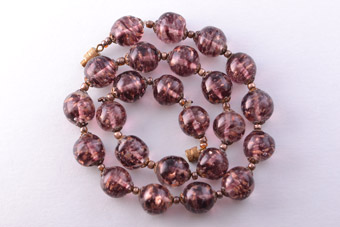 Sommerso And Aventurina Murano Vintage Necklace