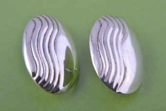 Silver Retro Stud Earrings