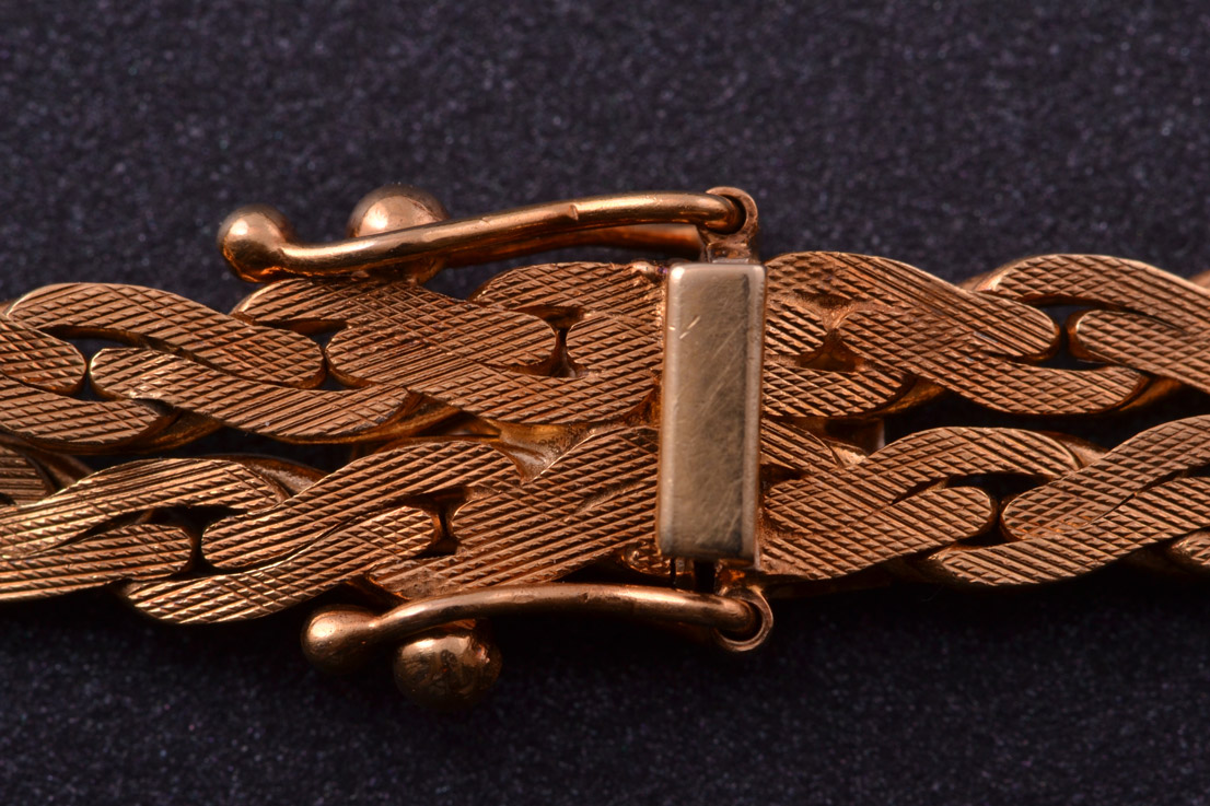 18ct Yellow Gold 1960 S Italian Bracelet Vintage