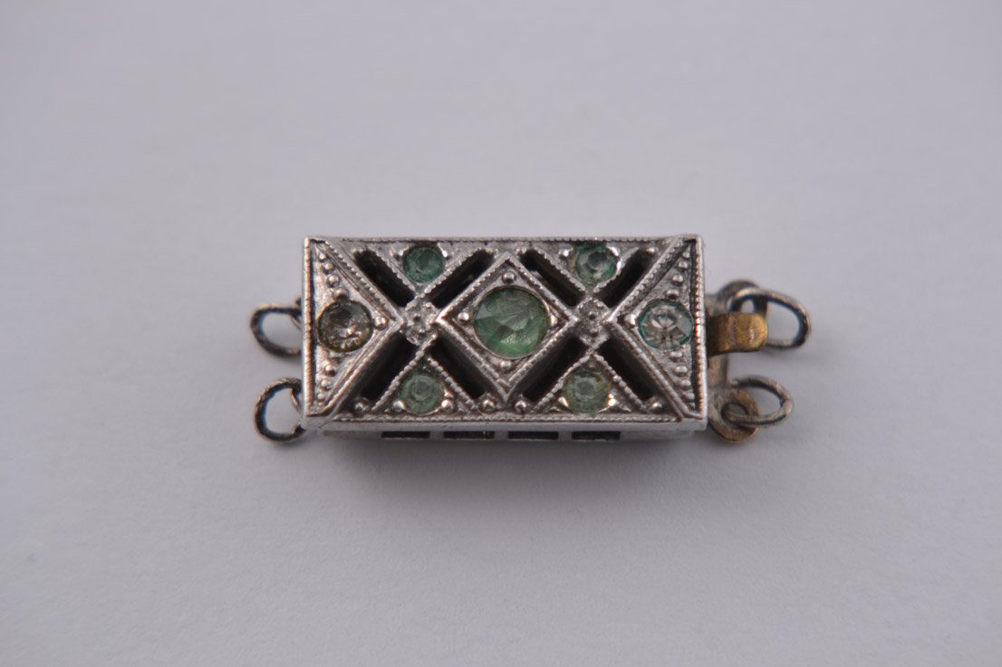Art Deco Cocktail Clasp With Paste