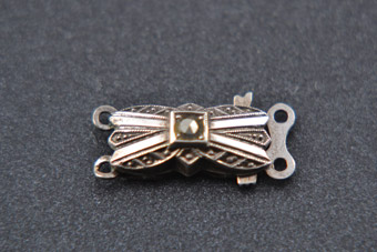 Silver 1940's Clasp With Marcasite