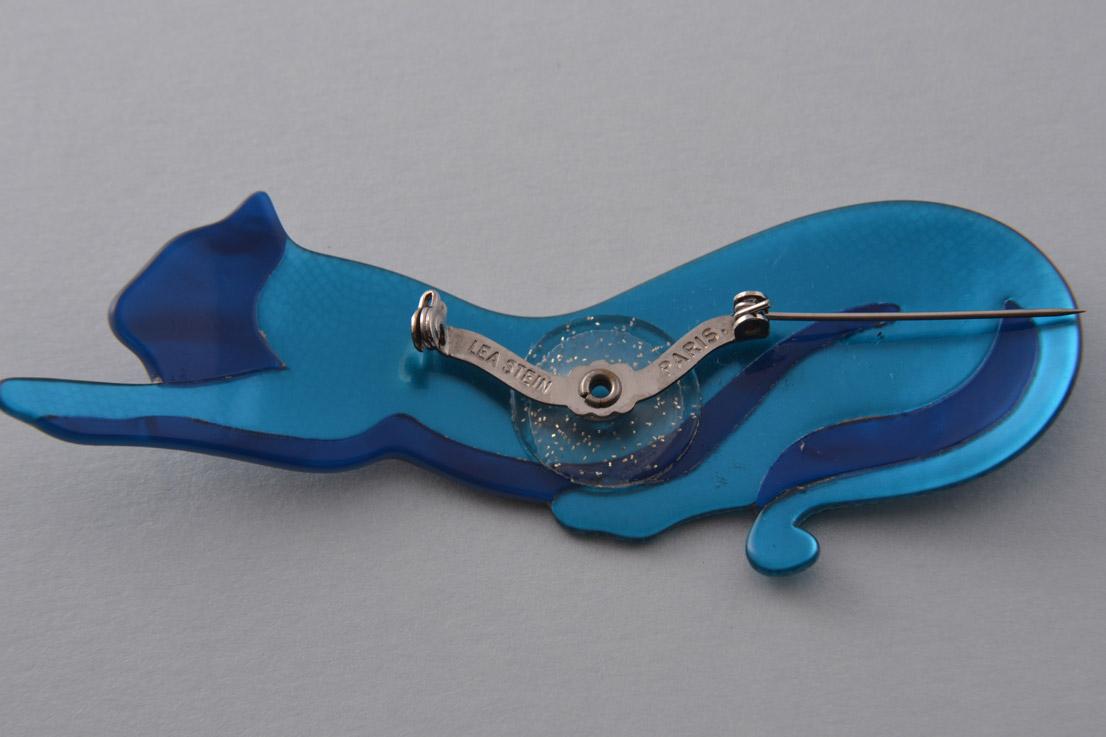 Plastic Lea Stein Cat Brooch Jewellery Amanda