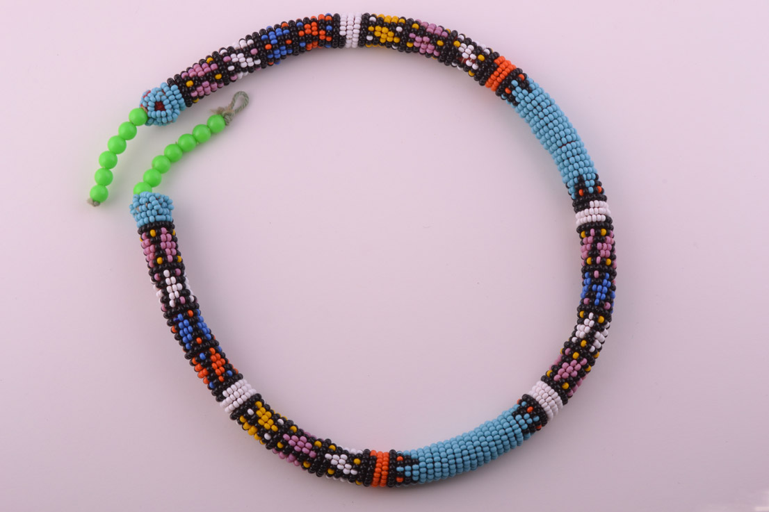 Beaded Vintage African Necklace