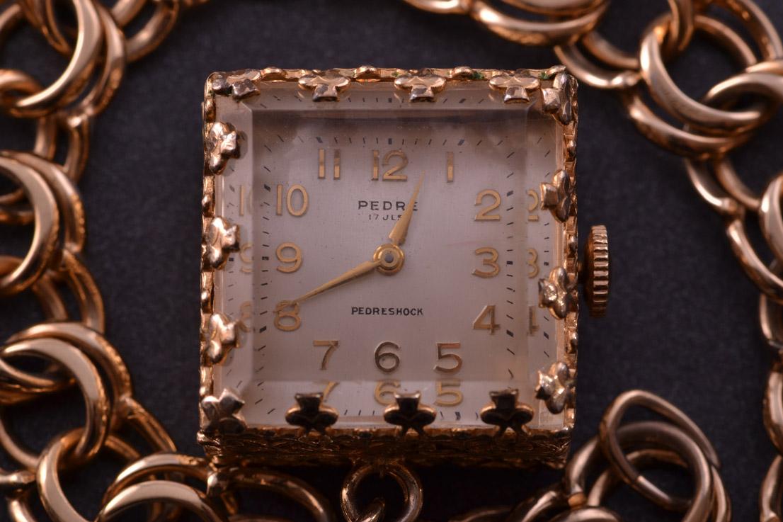 Gilt Vintage 1960 S Pedre Watch Bracelet Vintage