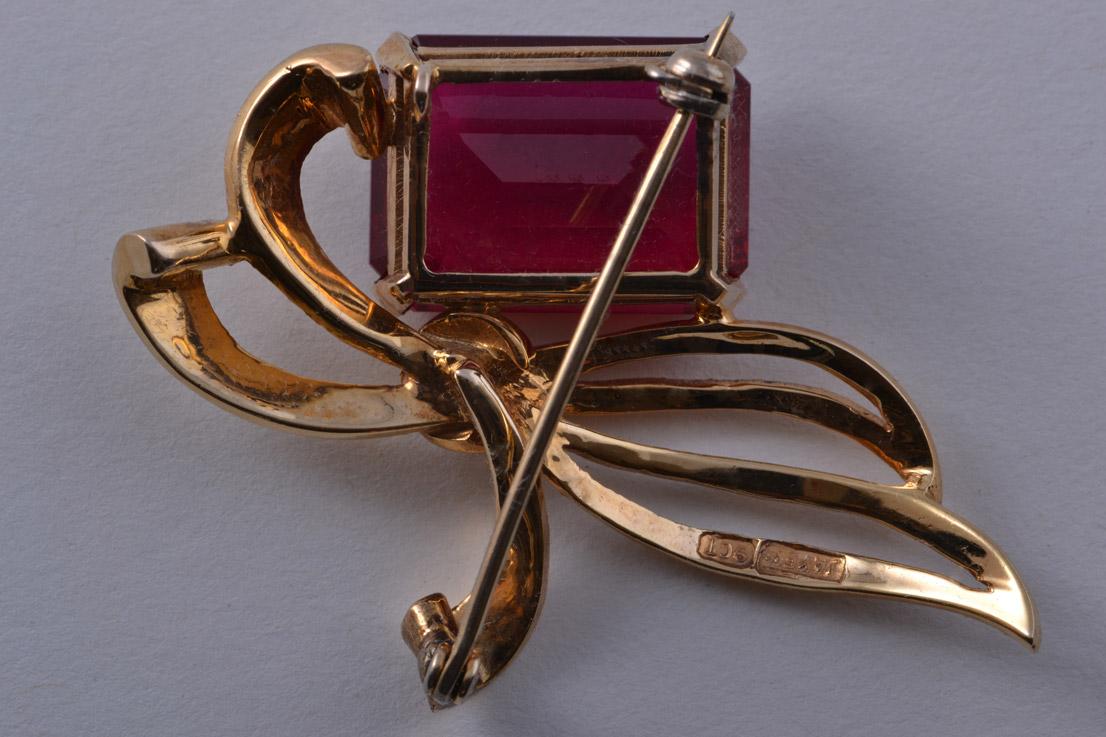 9ct Yellow Gold 1940 S Retro Brooch Retro Jewellery