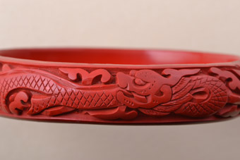 Cinnabar 1920's Oriental Bangle