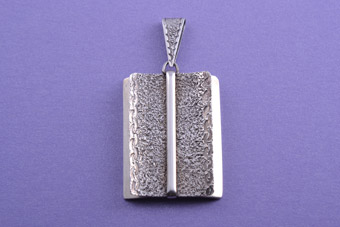 Silver Retro Pendant With Engraving