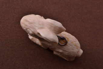Bone Vintage Rabbit Charm