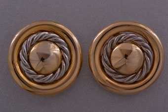 Vintage Gilt Clip On Earrings