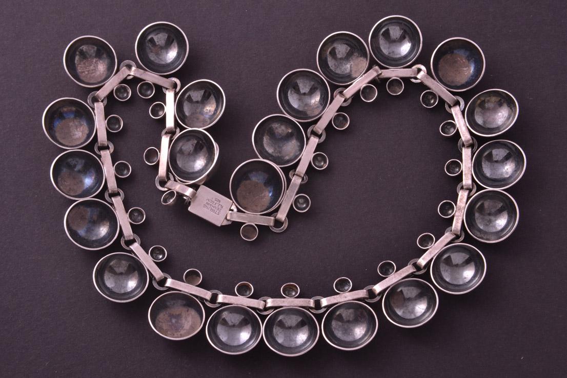 Silver Retro Necklace From Denmark Retro Jewellery