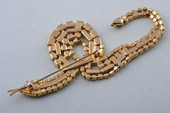Gilt Snake Brooch