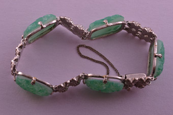 Chrome Art Deco Bracelet