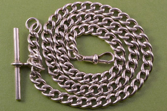 Silver 1900's Hallmarked Watch Chain