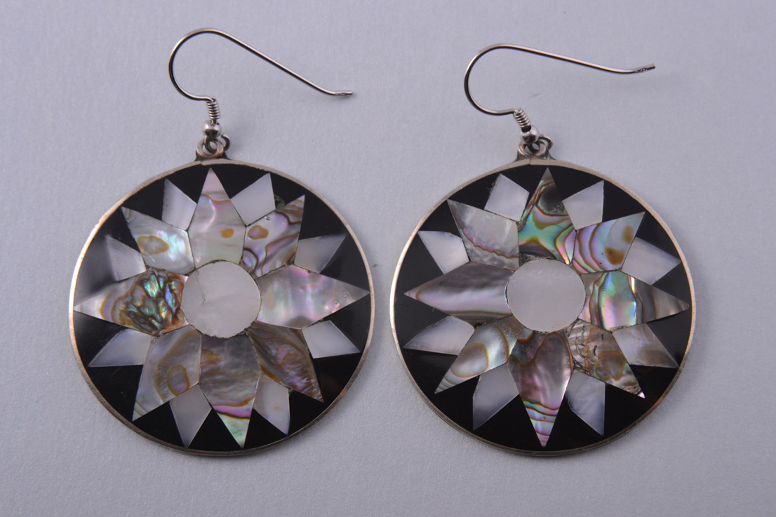 Hook Earrings With Abalone From Mexico Jewellery